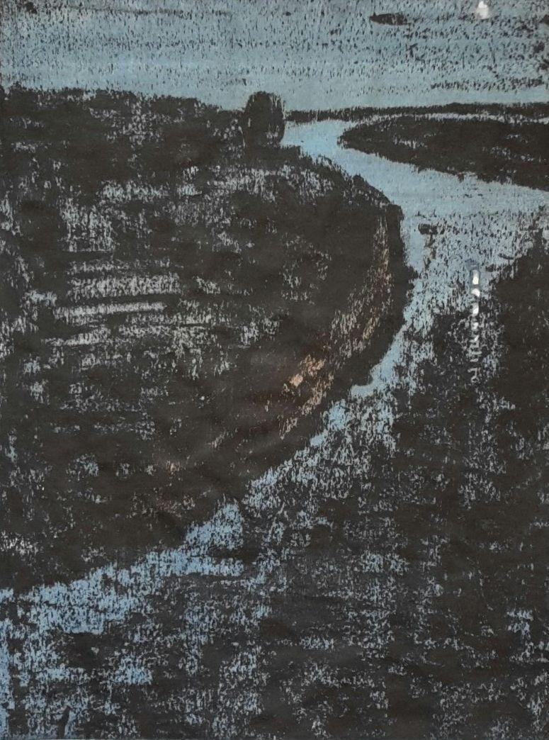 Eclats de lune, mon âme vagabonde, mokulito, 30x40
