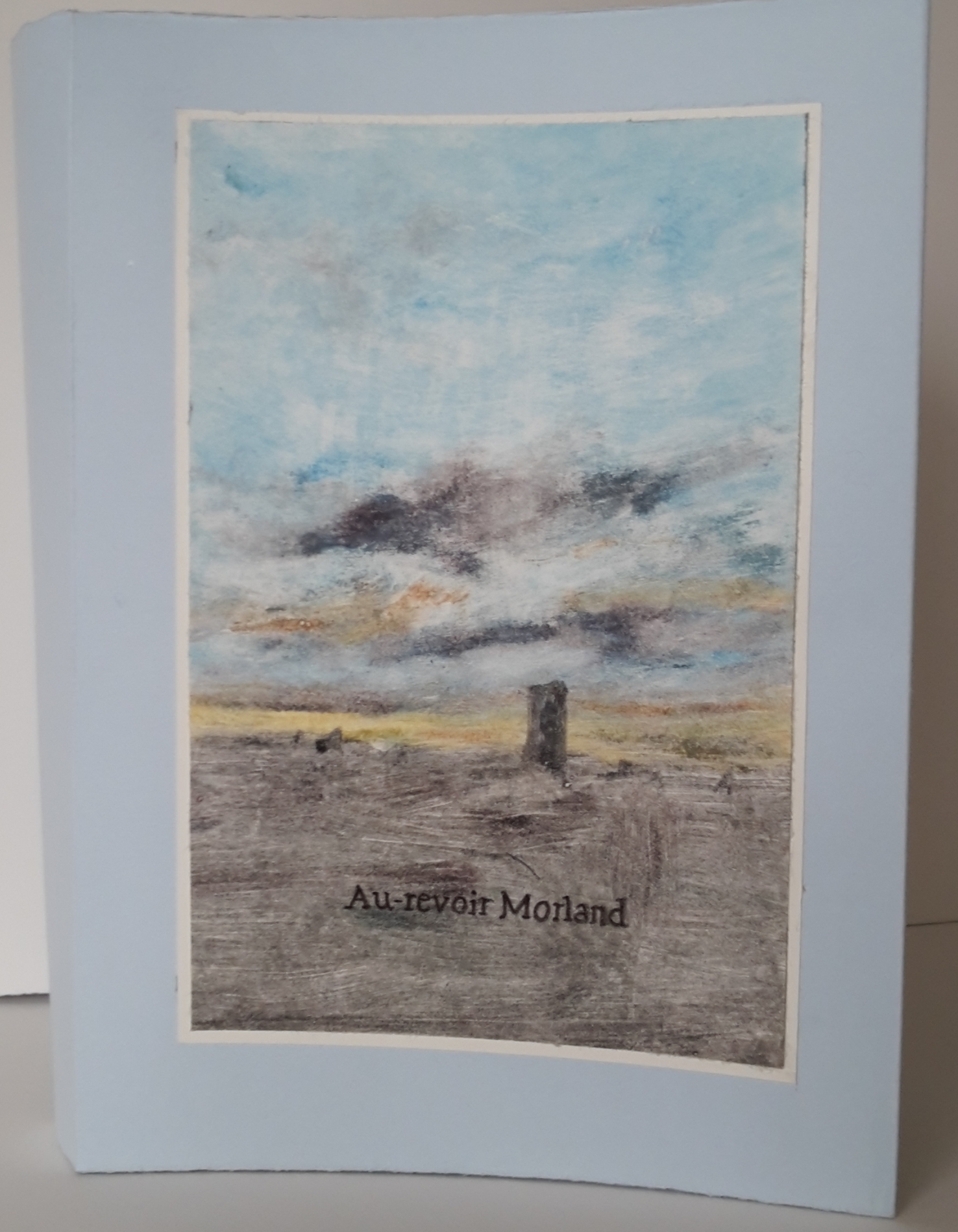 Adieu Morland, couverture, monotype