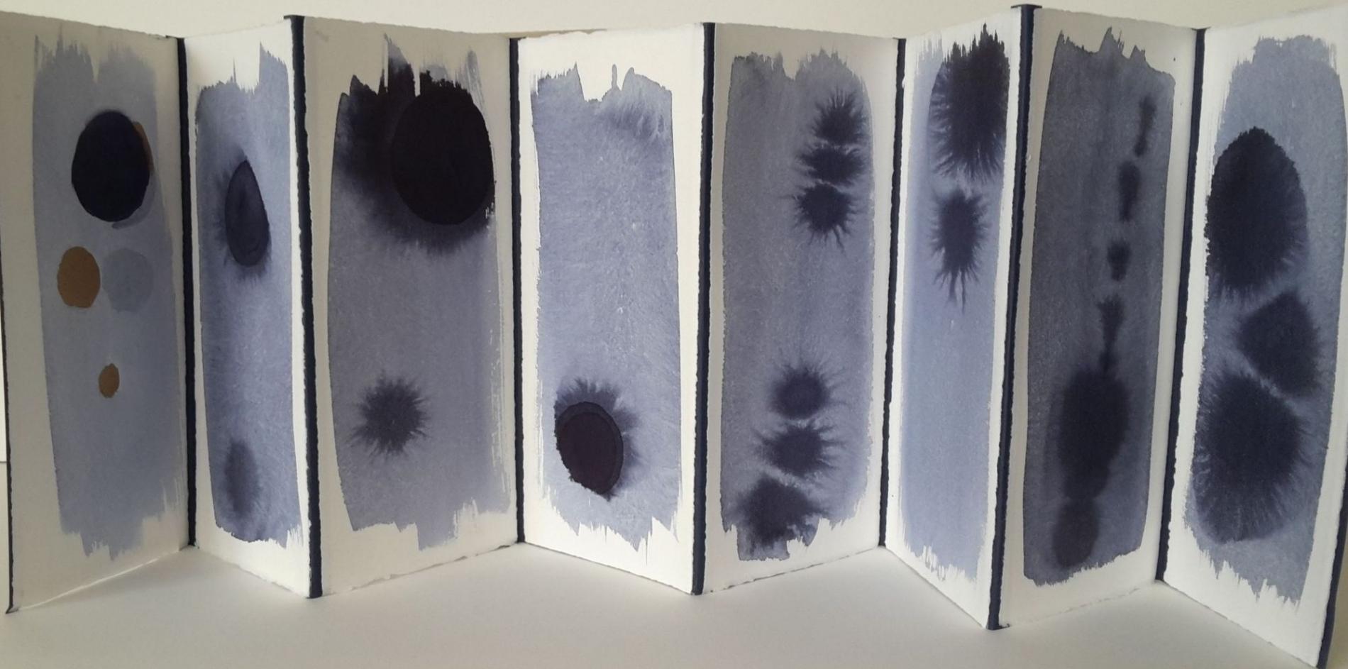Nocturnes, encre, 28x105 cm