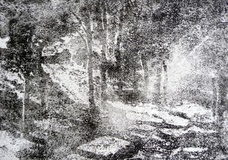 Entre ombre et lumière, zincographie, 18x24