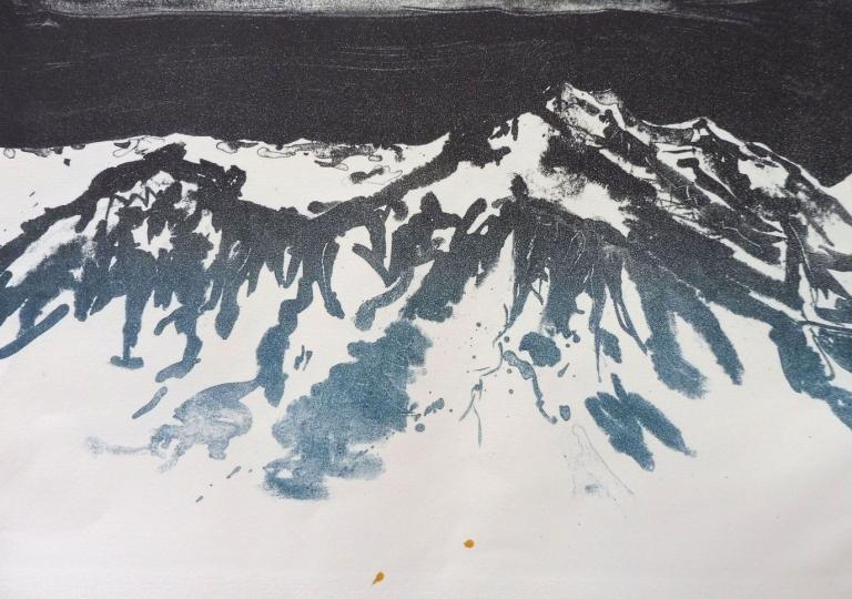 J'irai par la forêt j'irai par la montagne, lithographie, 30x40
