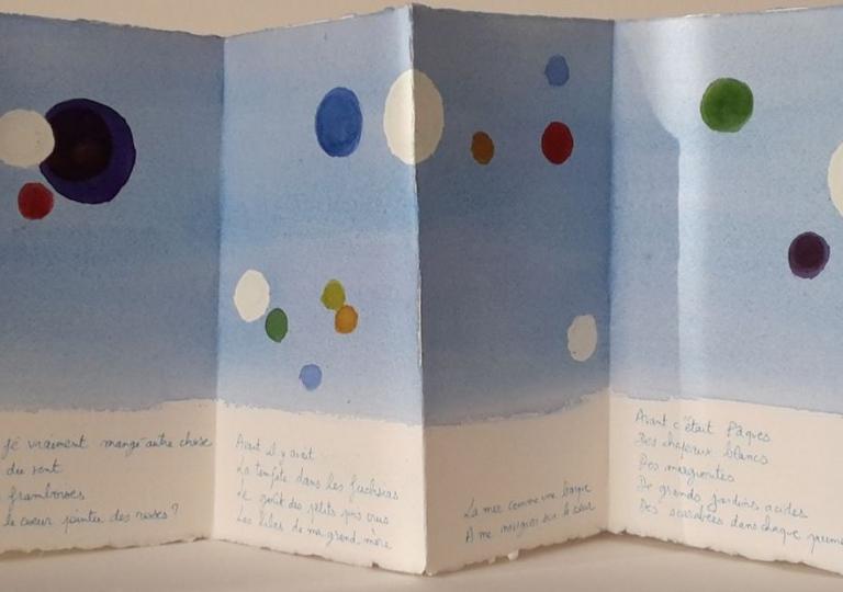 Avant, poème de Denise Jallais, aquarelle
