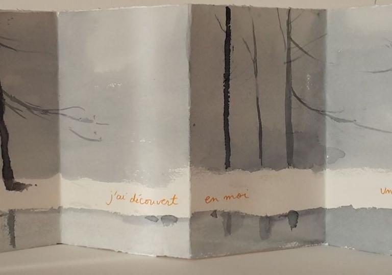 L'hiver et moi I, Albert Camus, aquarelle