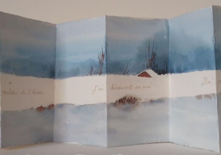 L'hiver et moi II, Albert Camus, aquarelle