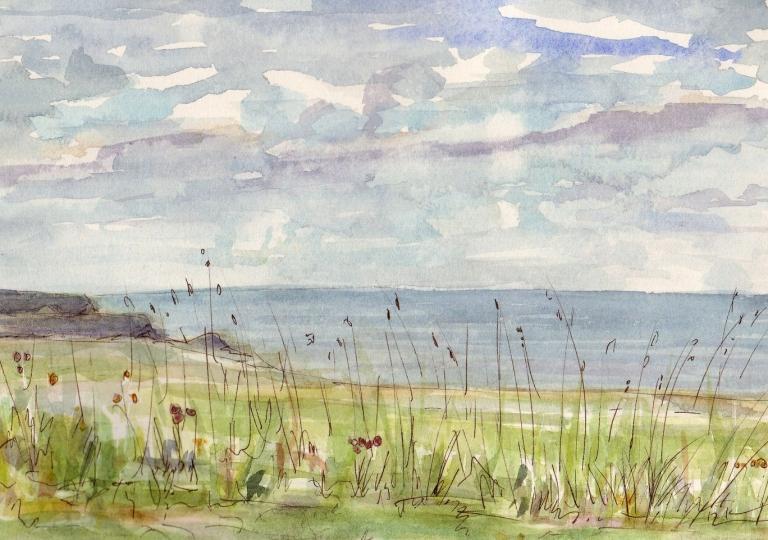 Baluden Belle-Île, aquarelle