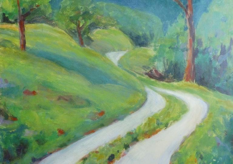 Chemin de Drôme, huile