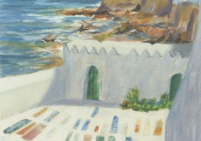 Cimetière marin d'Asilah, tempera